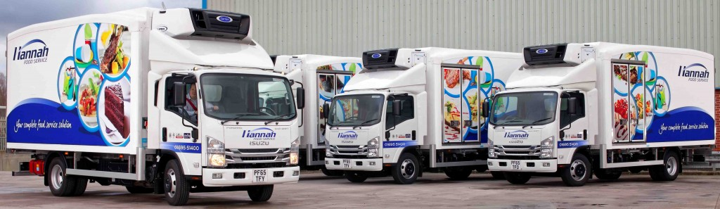 Payload on these new Isuzu 7.5 tonners is critical to Hannah Foods daily operation