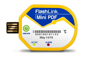 DeltaTrak's Life Science FlashLink Mini PDF In-Transit Logger