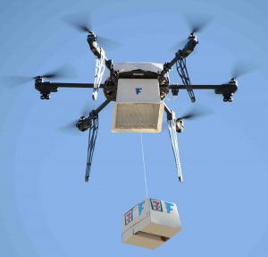 Convenience retailer 7‑Eleven and drone delivery service Flirtey completed the first fully autonomous drone delivery to a customer's home in the US. It was carried out to advance research towards integrating drones into the National Airspace System