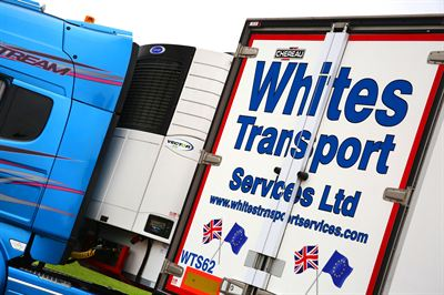 Whites Transport Services adds ten Chereau single-deck trailers with Carrier Vector 1950 fridges